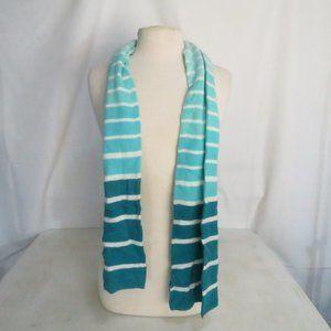 Merona Women's Blue And White Striped Scarf NWT